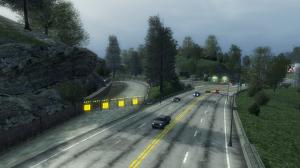 A shortcut entrance in Burnout: Paradise
