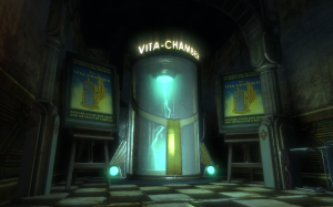 Bioshock's Vita-chambers act almost as in-game autosaves without the whole reset gameworld bit