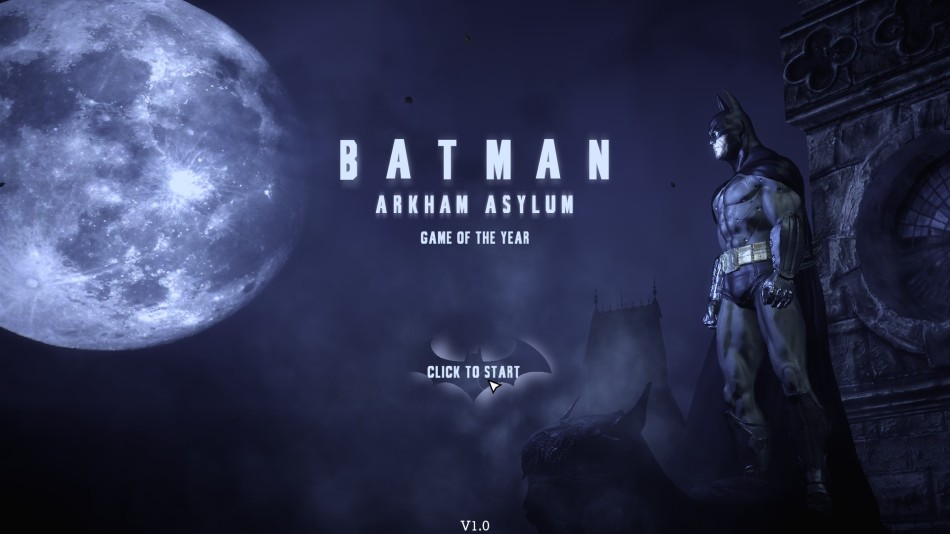 Batman AA GOTY title screen