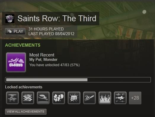 Saint's Row 3 achievements
