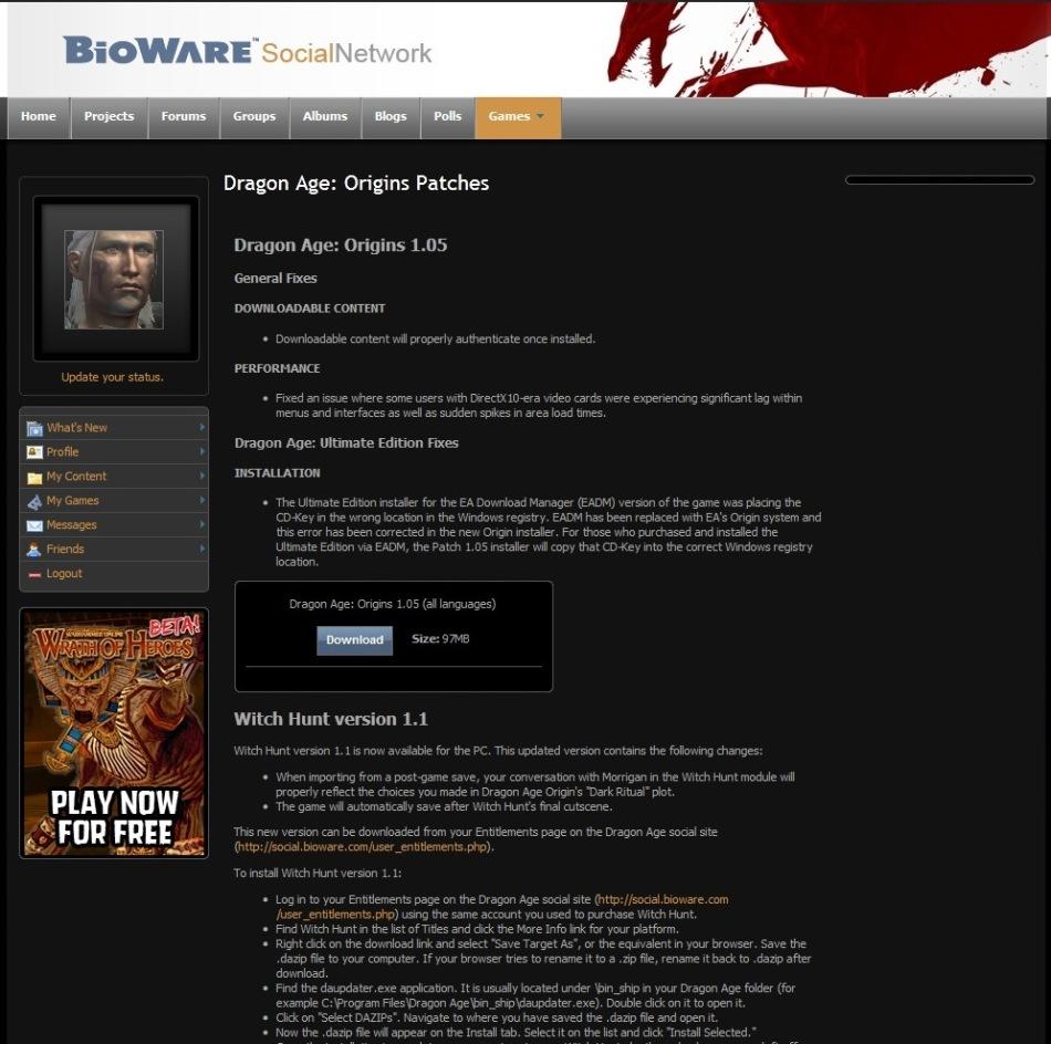 Bioware Social Site